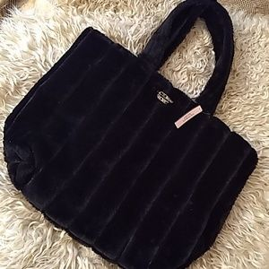 Victoria's Secret furry tote NWT